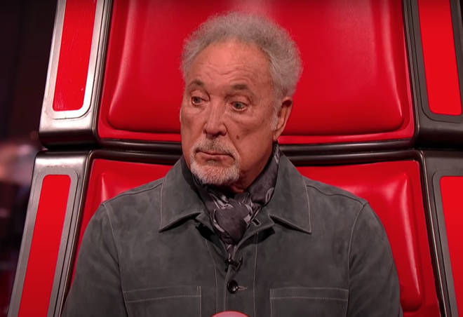 James Robb sang a beautiful rendition of Sting's 'Shape Of Your Heart' causing Tom Jones' eyebrows shoot up in amazement during the opening lyrics of the song (pictured).