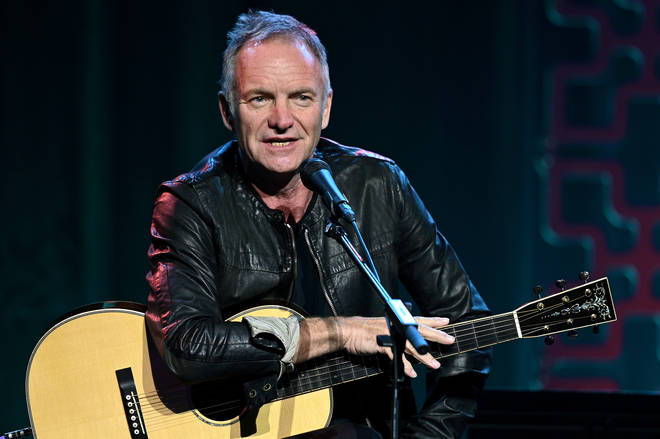James Robb sang Sting's 1993 hit song 'Shape Of Your Heart'. Sting pictured in January 2020.