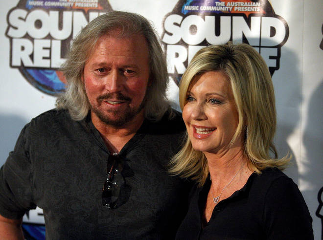 In 2009 Barry Gibb and Olivia Newton-John sang 'Islands In The Stream' together at the Australian Sound Relief charity concert (pictured).