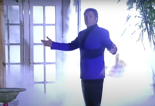 Filmed in 1992 for an episode called 'The Alma Matter' Sir Tom Jones had a walk-on part during a dream sequence on the show (pictured).