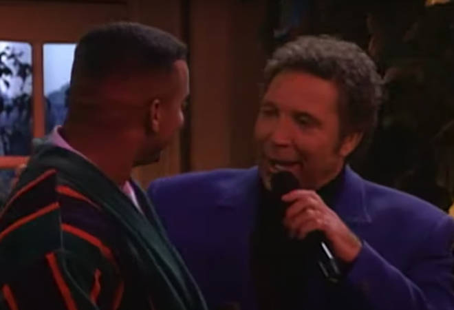 The two then break into a duet of Tom's famous hit 'It's Not Unusual' with the lyrics changed to reflect Carlton's situation and sees the actor showcase some of his character's most famous dance moves.