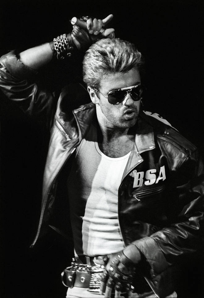 Adam Lambert paid tribute to George Michael's 1987 hit, 'Faith'. Pictured, George on the Faith Tour in 1988.