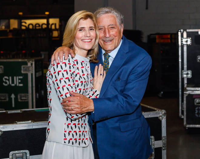 'Life is a gift – even with Alzheimer's. Thank you to [his wife] Susan and my family for their support, and AARP The Magazine for telling my story.' Pictured with Susan in 2019