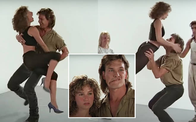 "Jennifer Grey and Patrick Swayze were cast as Johnny Castle and Frances ""Baby"" Houseman in 1987&squot;s Dirty Dancing and immediately began hours of latin dance rehearsals (pictured)."