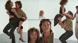 "Jennifer Grey and Patrick Swayze were cast as Johnny Castle and Frances ""Baby"" Houseman in 1987's Dirty Dancing and immediately began hours of latin dance rehearsals (pictured)."