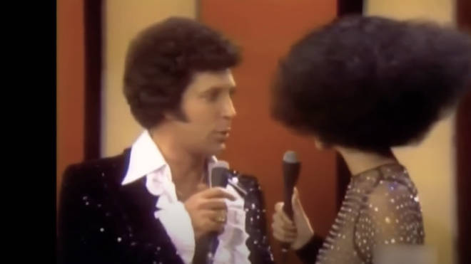 Tom Jones couldn't resist some flirtatious banter with host Cher