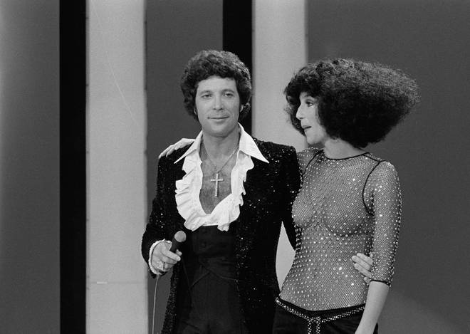 Tom Jones couldn't help turning on his famous charm when Cher joined him on stage for a television performance in the '70s