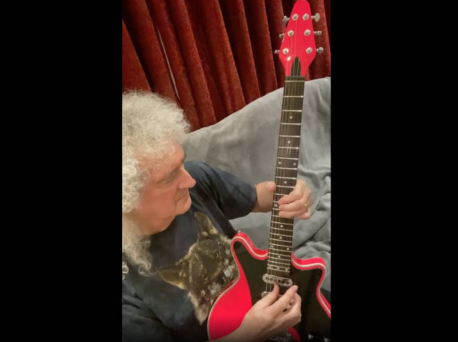 "The Queen guitarist wrote: ""For all our dear ones, sadly missed, because they have gone on, to that place where we are all headed in the end. With all respects ... you'll never walk ... alone. Bri."""