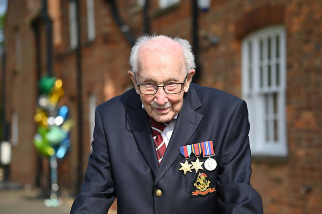 Captain Sir Tom Moore raised nearly £33 million for the NHS in 2020