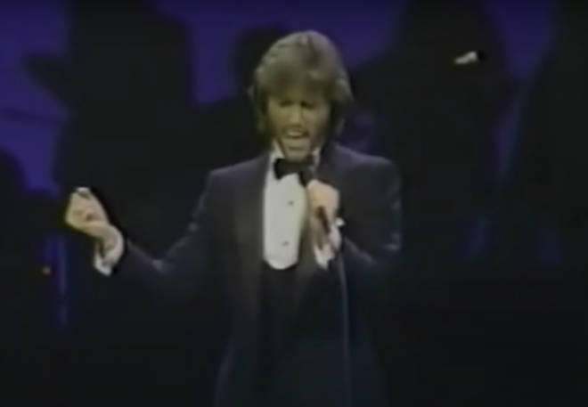 After singing 'Words' Andy Gibb sang his own song, '(Me) Without You' before other stars took to the stage to pay tribute to the president.