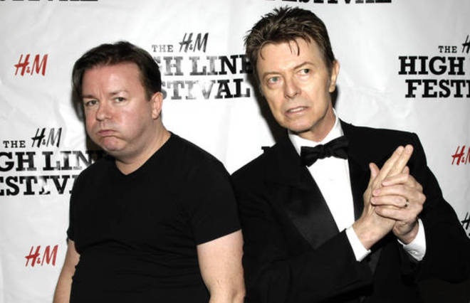 David Bowie and Ricky Gervais in 2007.