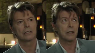 In an interview recorded on the 2006 set of TV show Extras, David Bowie deadpans to the camera as he talks about his work as a 'serious actor'