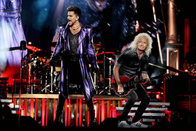 Adam Lambert now performs to sold-out stadiums across the world as the lead singer of Queen. Pictured: Adam Lambert and Brian May in February 2020.