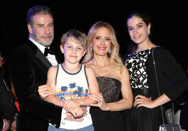 John Travolta and family in 2018.