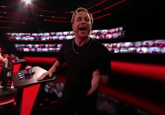 Saturday night's episode of The Voice UK (February 6) Olly Murs dedicate an impromptu performance to the virtual audience and the viewers at home.