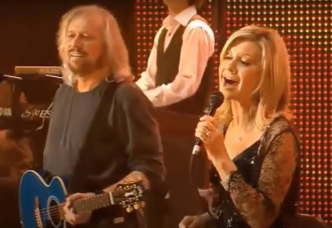 Barry Gibb and Olivia Newton-John have been great friends and working partners since the '70s. Pictured in 2009