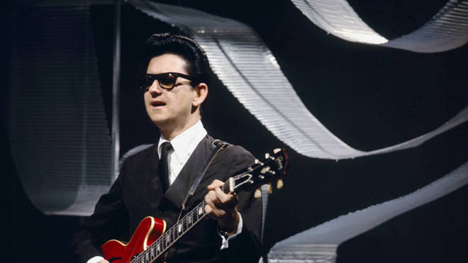 Roy Orbison with his trademark sunglasses