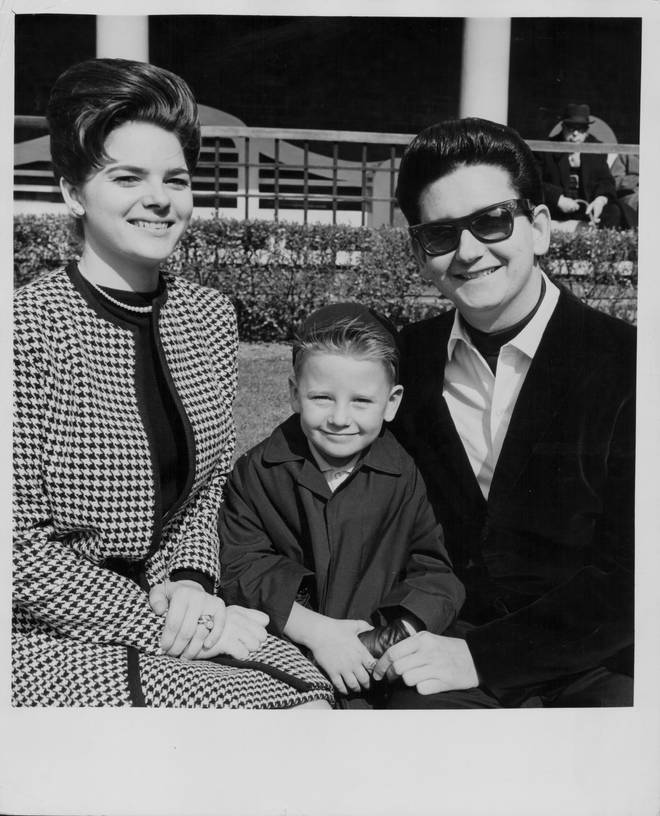 Roy Orbison and first wife Claudette, and son Roy Jr in 1964