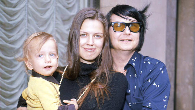 Roy Orbison and wife Barbara and son Roy Jr in 1972