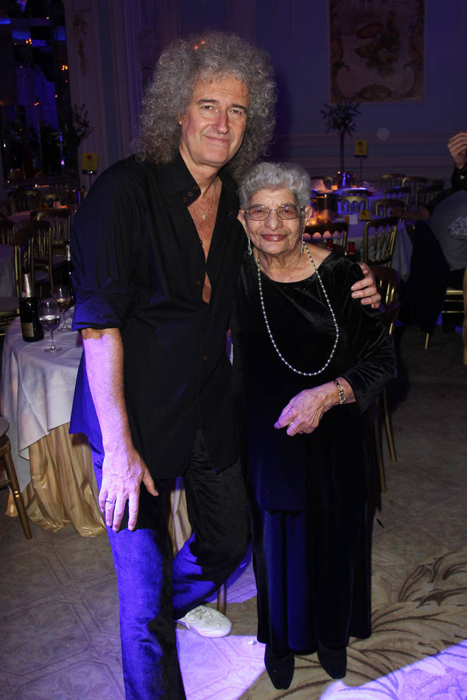 Brian May and Freddie Mercury's mother Jer Bulsara in 2011