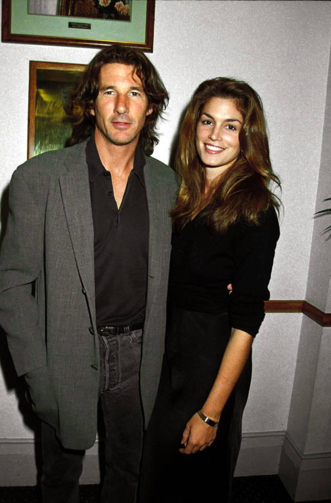 Richard Gere married Cindy Crawford in 1991, nine years after An Officer and a Gentleman made him a household name.