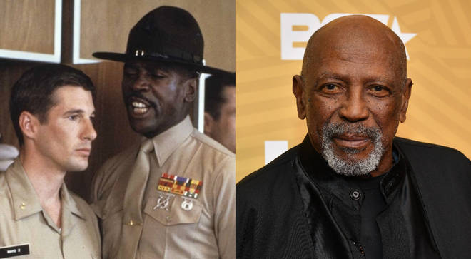 Louis Gossett Jr pictured in An Officer and a Gentleman in 1982 and right, in February 2020.