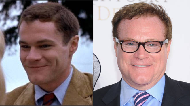 David Keith pictured playing Sid Worley in 1982 and right, in 2013.