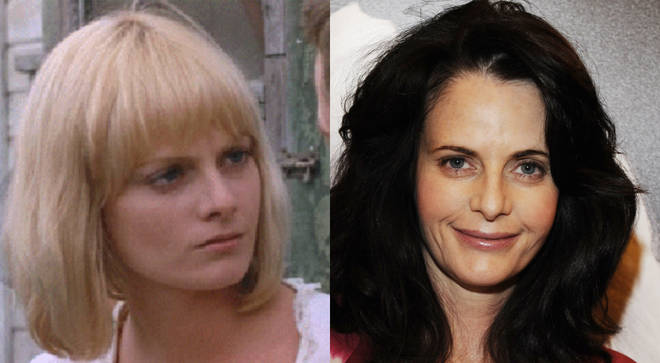 Lisa Blount pictured in An Officer and a Gentleman in 1982 and right, in 2010