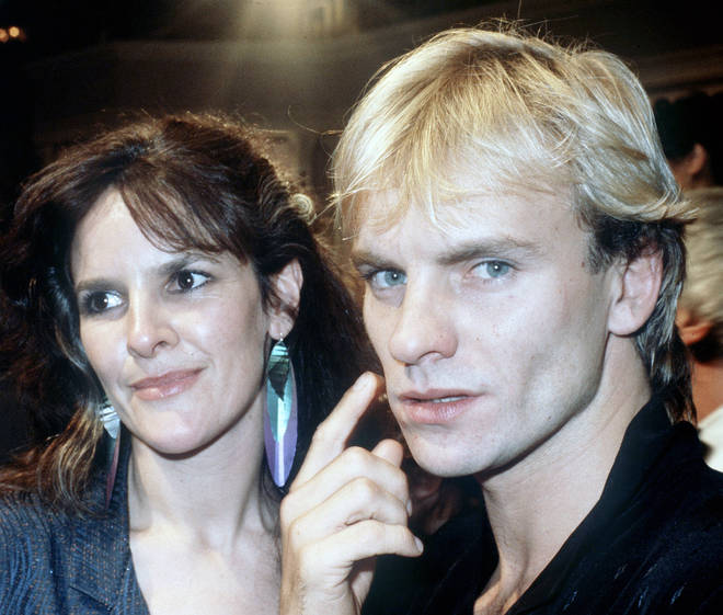 Sting and his ex-partner Frances Tomelty in 1980
