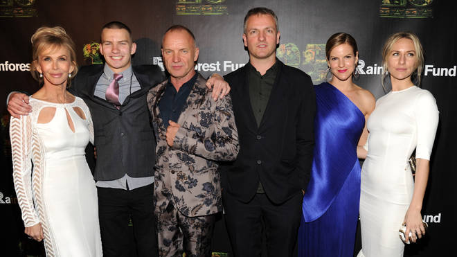 Sting and his family in 2014 (Left to right: Trudie Styler, Jake, Sting, Joe, Kate and Mickey)