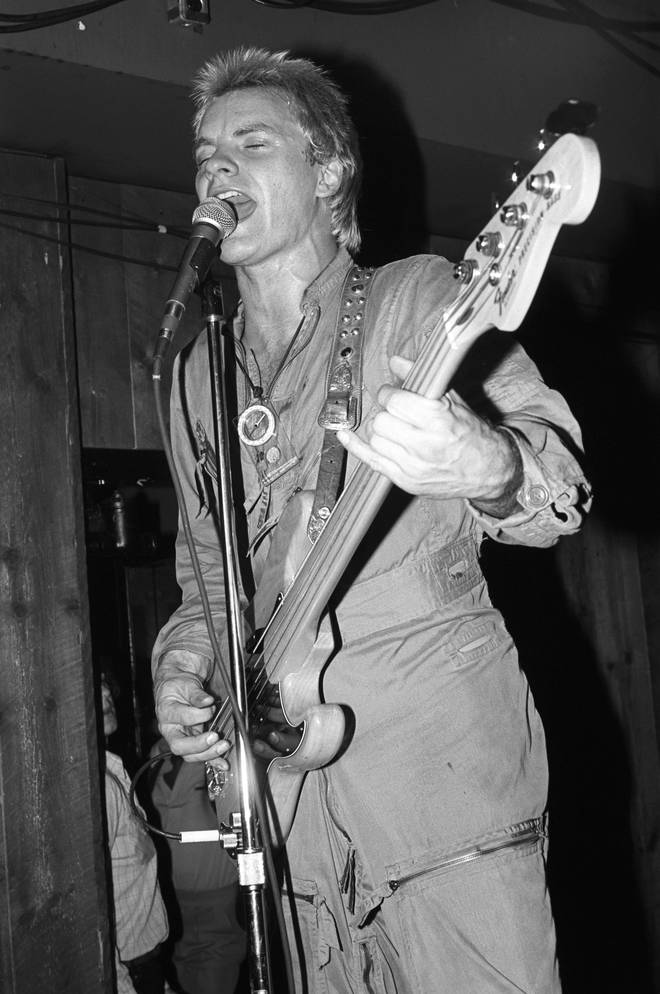 Sting performing in the 1970s
