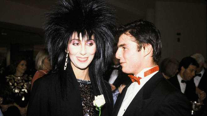 Tom Cruise and Cher in the 1980s