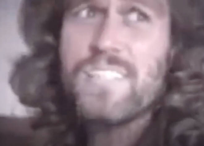 The video gives a rare insight into Barry Gibb's home life and down-to-earth nature of the star, who moved his family to America in 1974.