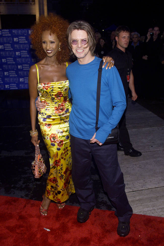 The interview has become an internet sensation, with fans keen to point out David Bowie's extraordinary prediction did indeed come true. Bowie pictured with wife Iman in 1999.