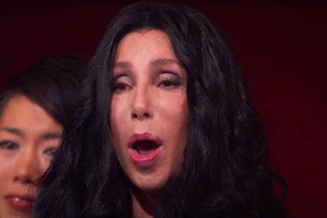The camera continually panned to Cher to capture her reaction as Adam Lambert sang her cult classic 1998 hit 'Believe'