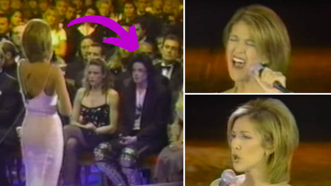 The video sees Celine Dion giving a breathtaking performance in 1996 as none other than the King of Pop himself, Michael Jackson, looks on from the front row of the audience.