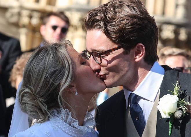 Ellie Goulding and husband Caspar Jopling on their wedding day in 2019.