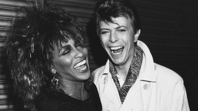 Tina Turner and David Bowie in 1985