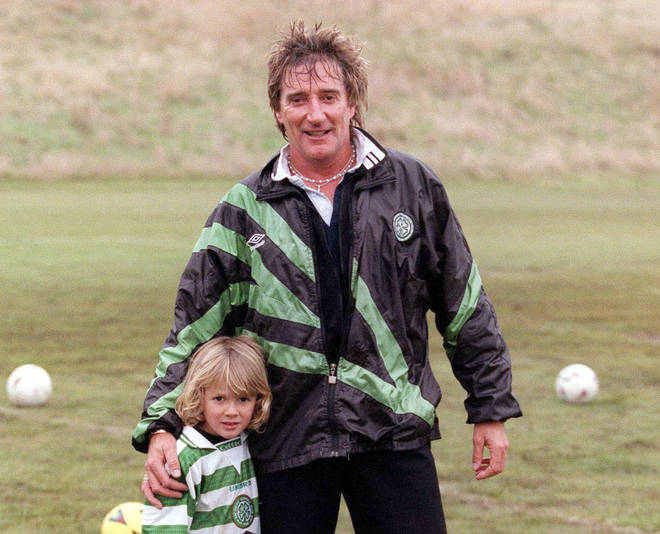 Rod Stewart and his son Liam in 1999