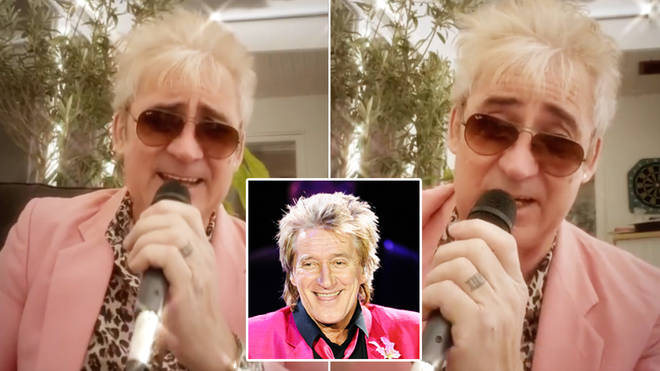Rod Stewart surprises son with hilarious 'Rud Stewart' tribute act for birthday