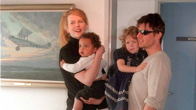 Nicole Kidman and Tom Cruise With Connor and Isabella in 1996
