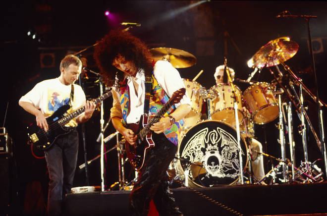 Within six months of Freddie Mercury's death, a tribute concert was arranged where the greatest performers from music and stage were invited to give tribute to the Queen star for one last time. Pictured, Queen.