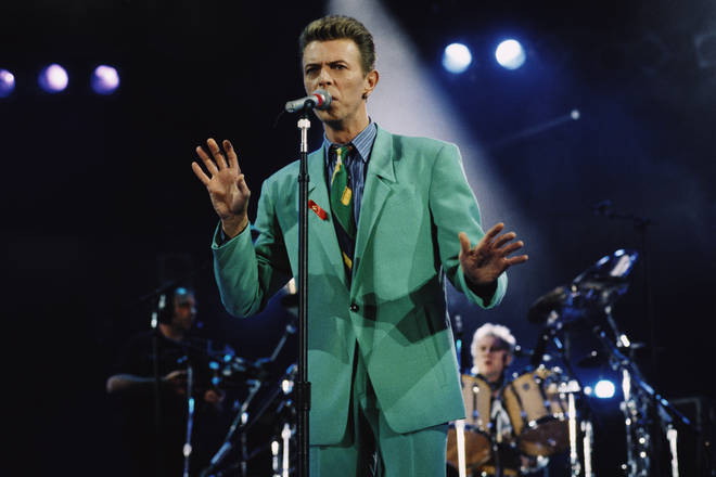 On May 15, 2020 Queen streamed the concert for 48 hours on their website in a bid to help raise funds for the World Health Organisation's COVID-19 relief fund. Pictured, David Bowie performing at the concert.