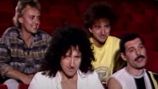 Queen's Brian May, Freddie Mercury, John Deacon and Roger Taylor were doing press to promote Live Aid in 1985.