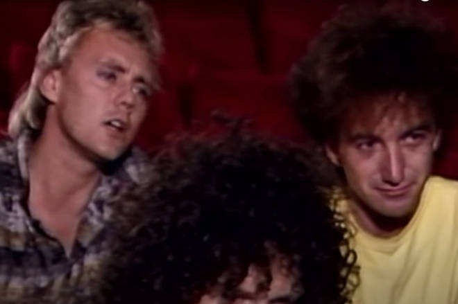 The band went on to reveal they were 'squabbling' over the now-famous setlist. Pictured L to R, Roger Taylor and John Deacon.