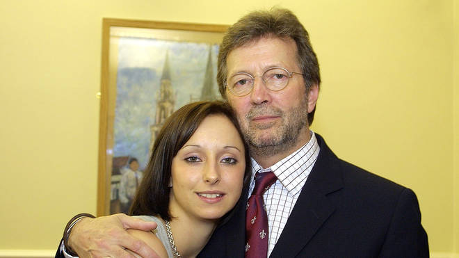 Eric Clapton with daughter Ruth in 2003