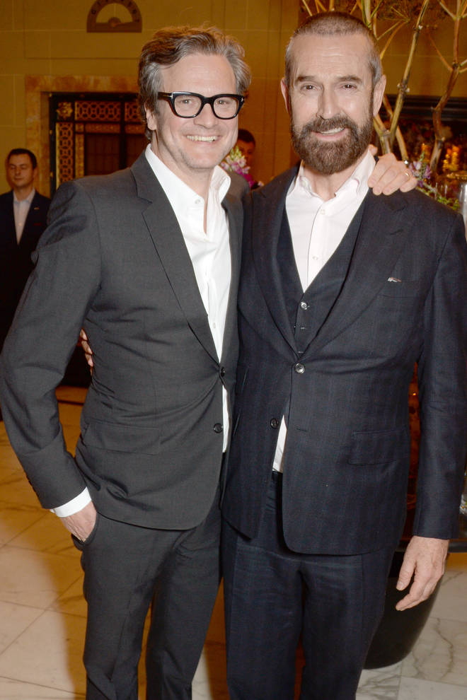 Both Colin Firth and Rupert Everett confirm they are now friends. Pictured in 2005.