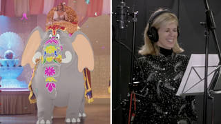 Kate Garraway and her character in the upcoming Tom & Jerry film