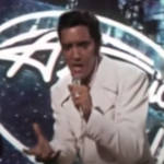 Elvis Presley stunned teh world when he walked out on stage to join Celine Dion on American Idol in 2007.