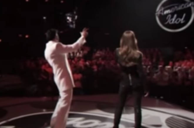 A Las Vegas Elvis tribute artist was used in the wide shots (pictured).